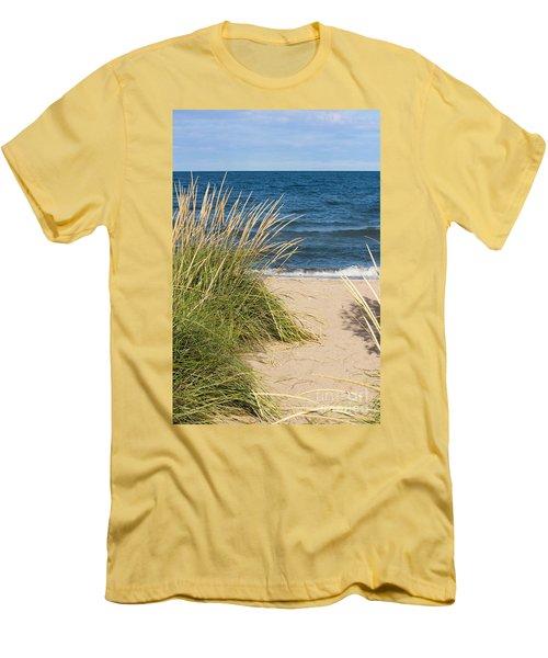 Beach Path Men's T-Shirt (Slim Fit) by Barbara McMahon