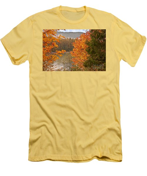 Beautiful Autumn Gold Art Prints Men's T-Shirt (Slim Fit) by Valerie Garner