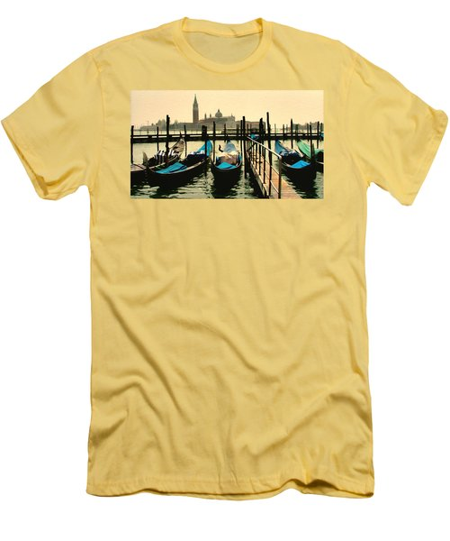 Men's T-Shirt (Slim Fit) featuring the photograph Beautiful Day In Venice by Brian Reaves