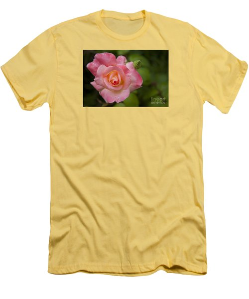 Men's T-Shirt (Slim Fit) featuring the photograph Shades Of Pink And Green by David Millenheft
