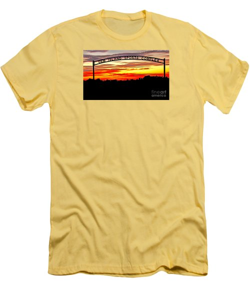 Beautiful Sunset And Emmett Sport Comples Men's T-Shirt (Athletic Fit)