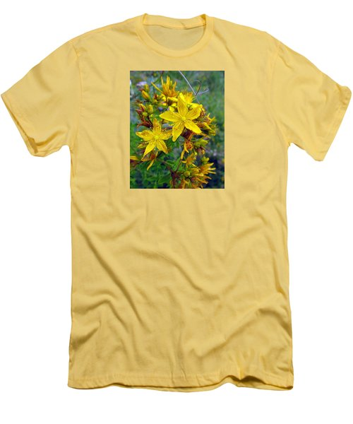 Beauty In A Weed Men's T-Shirt (Slim Fit) by I'ina Van Lawick