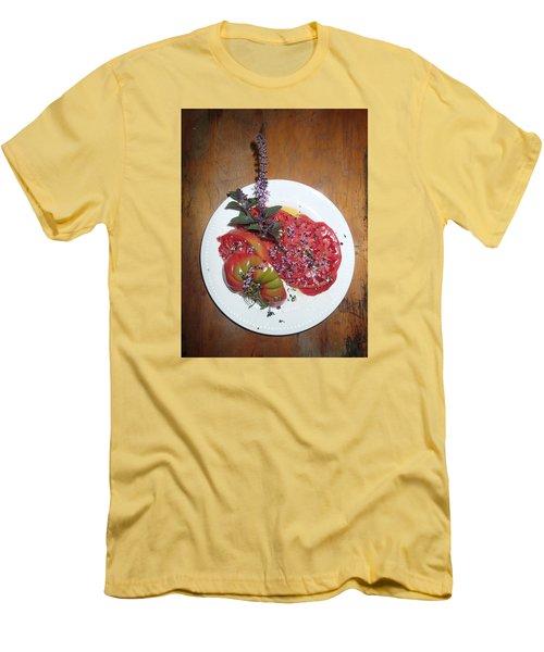 Beefsteak Men's T-Shirt (Slim Fit) by Robert Nickologianis