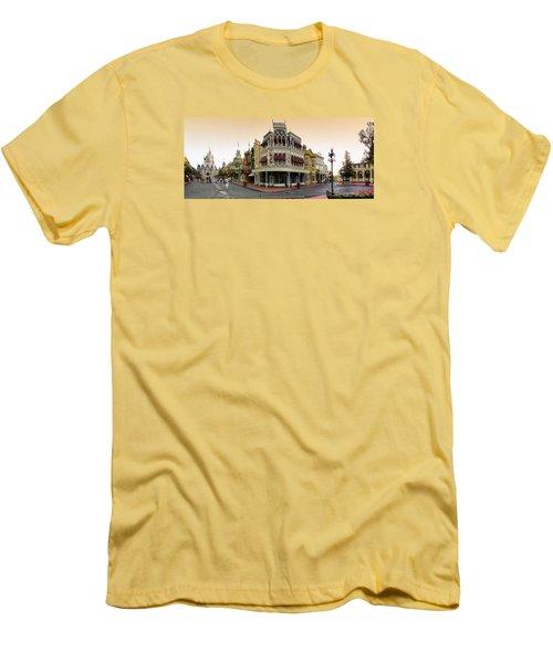 Before The Gates Open Magic Kingdom Main Street. Men's T-Shirt (Athletic Fit)