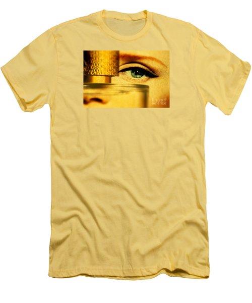 Behind The Bottle Men's T-Shirt (Slim Fit) by Michael Cinnamond