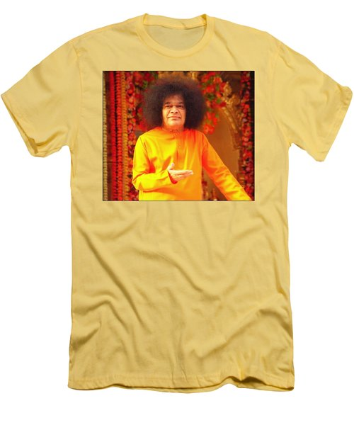 Bhagavan Sri Sathya Sai Baba Men's T-Shirt (Athletic Fit)