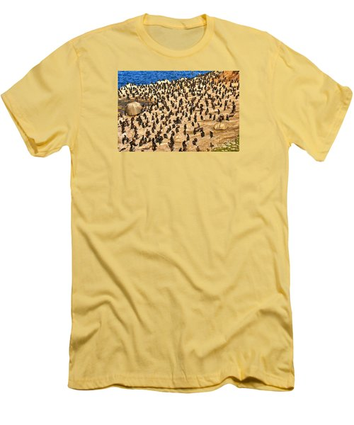 Men's T-Shirt (Slim Fit) featuring the photograph Birds Of A Feather Stick Together by Jim Carrell