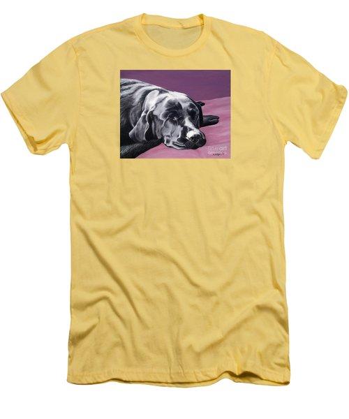 Black Labrador Beauty Sleep Men's T-Shirt (Athletic Fit)