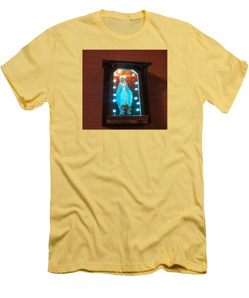 Blessed Mary - New Orleans La - Www.rocknbowl.com Men's T-Shirt (Athletic Fit)