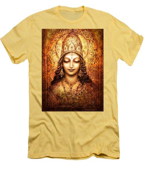 Blissful Goddess Men's T-Shirt (Slim Fit) by Ananda Vdovic