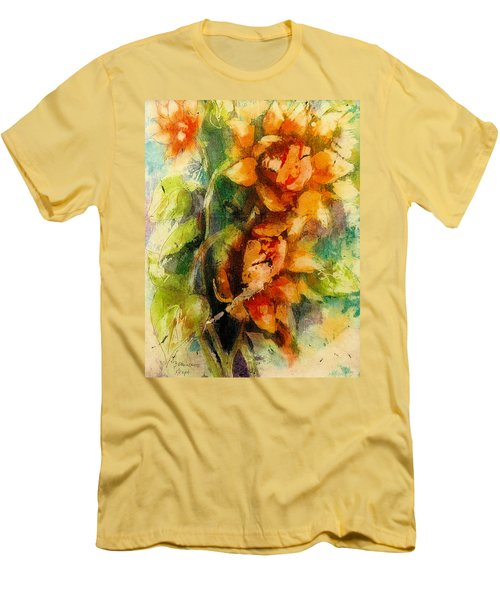 Blooming Flowers - Batik Men's T-Shirt (Athletic Fit)
