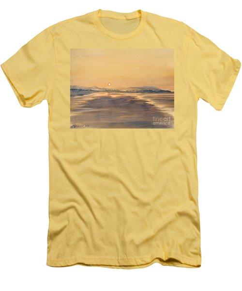 Blue Anchor Sunset Men's T-Shirt (Slim Fit) by Martin Howard