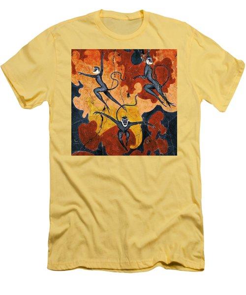 Blue Monkeys No. 8 - Study No. 1 Men's T-Shirt (Athletic Fit)