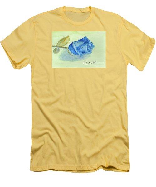 Blue Rose Men's T-Shirt (Slim Fit) by Pamela  Meredith