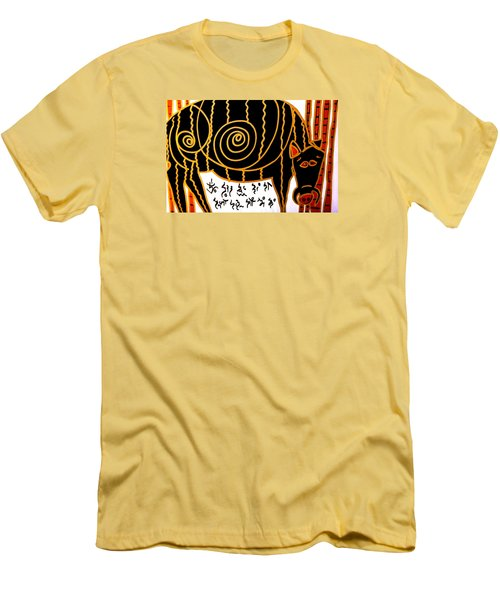 Men's T-Shirt (Slim Fit) featuring the painting Boar Totem by Clarity Artists