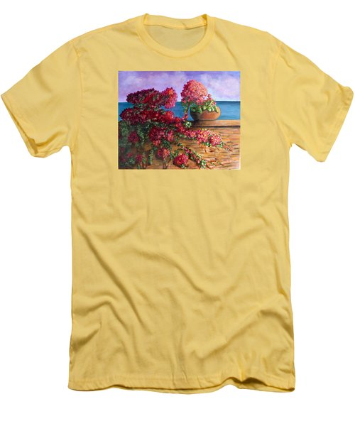 Bountiful Bougainvillea Men's T-Shirt (Athletic Fit)