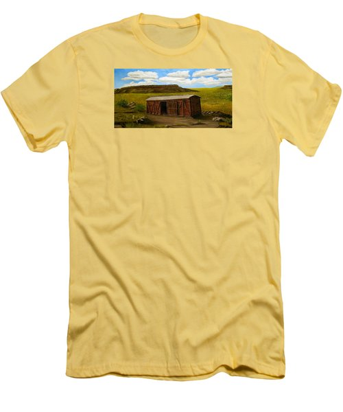 Boxcar On The Plains Men's T-Shirt (Slim Fit) by Sheri Keith