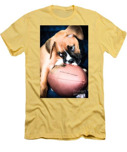 Boxer Puppy Cuteness Men's T-Shirt (Athletic Fit)