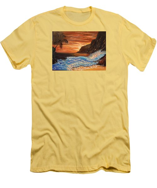 Brilliant Hawaiian Sunset 1 Men's T-Shirt (Athletic Fit)