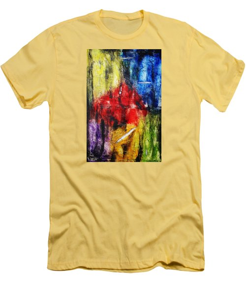 Men's T-Shirt (Slim Fit) featuring the painting Broken 4 by Michael Cross