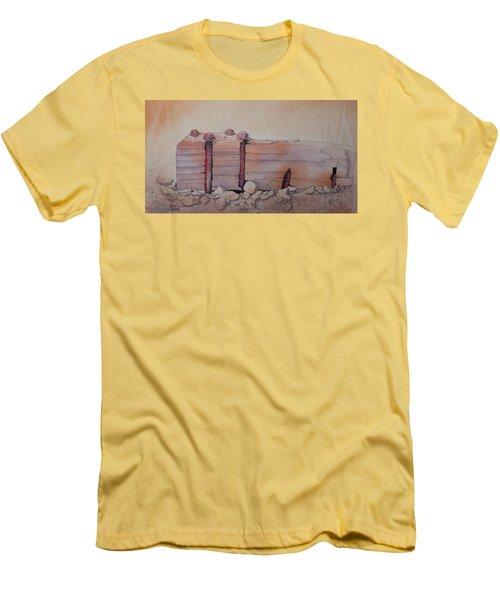 Broken Dock Seward Alaska Men's T-Shirt (Slim Fit) by Richard Faulkner