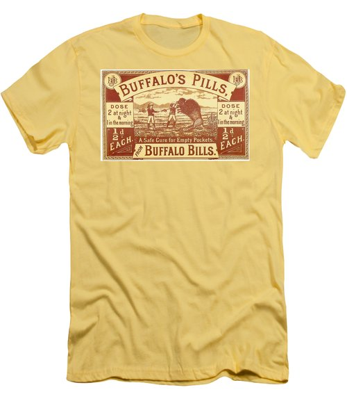 Men's T-Shirt (Slim Fit) featuring the photograph Buffalo's Pills Vintage Ad by Gianfranco Weiss