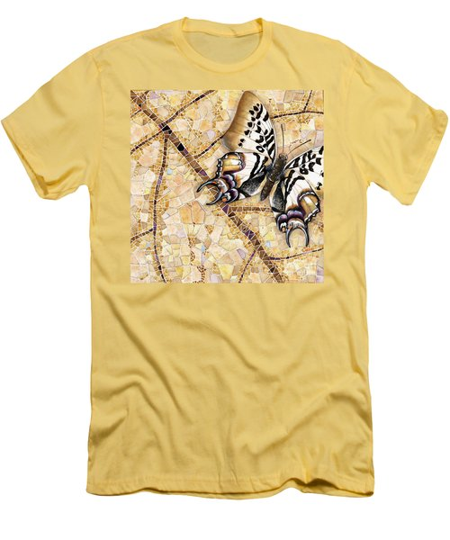 Butterfly Mosaic 01 Elena Yakubovich Men's T-Shirt (Athletic Fit)