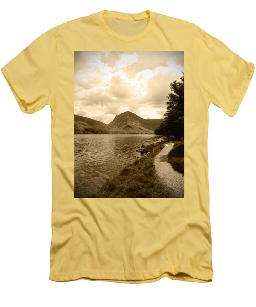 Buttermere Bright Sky Men's T-Shirt (Slim Fit) by Kathy Spall