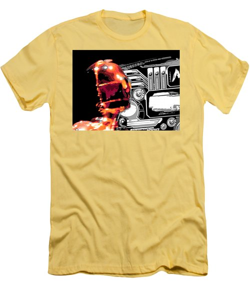 Men's T-Shirt (Slim Fit) featuring the digital art C3po by J Anthony