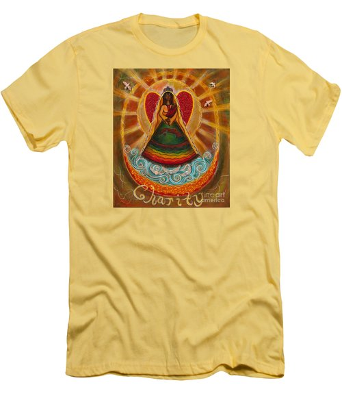 Men's T-Shirt (Slim Fit) featuring the painting Cachita Madonna by Deborha Kerr