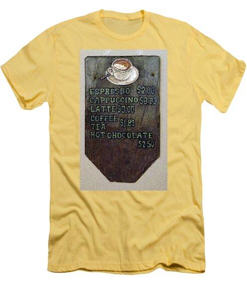 Cafe Sign On Slate Men's T-Shirt (Athletic Fit)