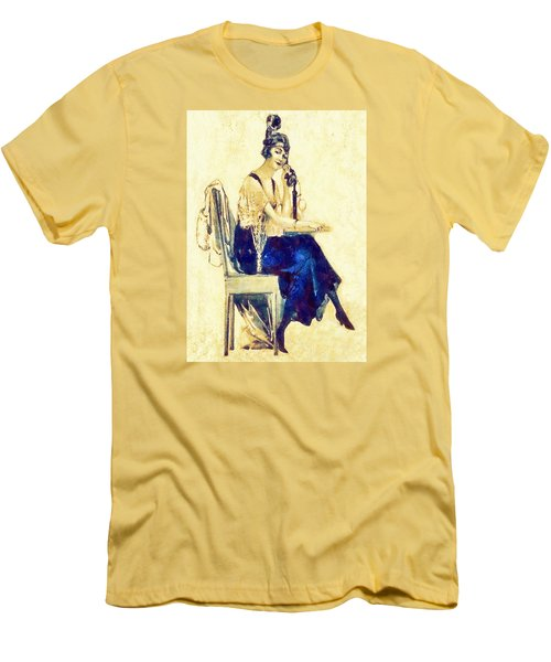 Men's T-Shirt (Slim Fit) featuring the digital art Call Me by Charmaine Zoe