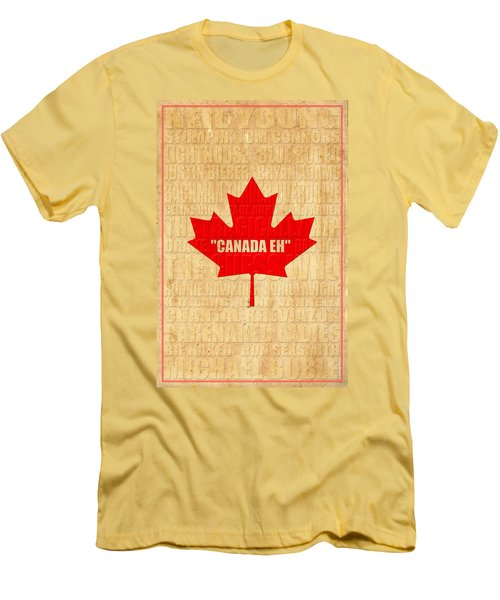 Canada Music 1 Men's T-Shirt (Athletic Fit)
