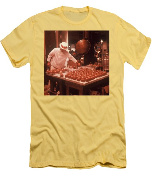 Men's T-Shirt (Slim Fit) featuring the photograph Candy Apple Man by Rodney Lee Williams