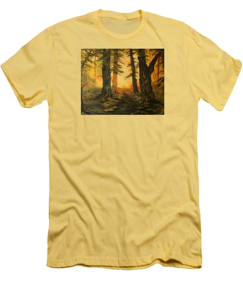 Cannock Chase Forest In Sunlight Men's T-Shirt (Athletic Fit)