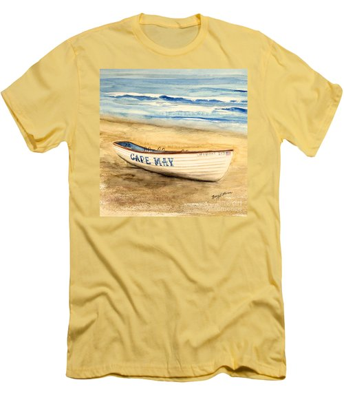 Cape May Lifeguard Boat - 2 Men's T-Shirt (Athletic Fit)