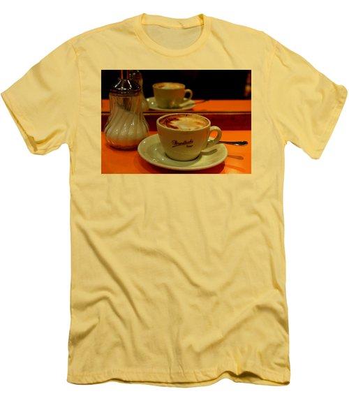 Cappuccino Men's T-Shirt (Slim Fit) by Caroline Stella