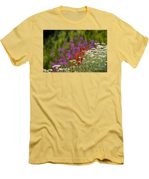 Cascade Wildflowers Men's T-Shirt (Slim Fit) by Sean Griffin