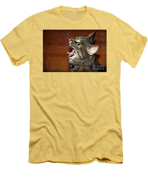 Caught In The Act Men's T-Shirt (Slim Fit) by Jolanta Anna Karolska