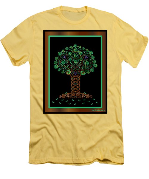 Celtic Tree Of Life Men's T-Shirt (Athletic Fit)