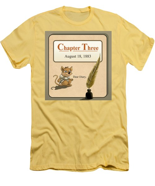 Men's T-Shirt (Slim Fit) featuring the painting Chapter Three by Reynold Jay