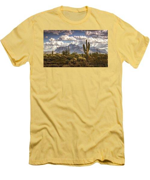 Chasing Clouds Two  Men's T-Shirt (Slim Fit) by Saija  Lehtonen