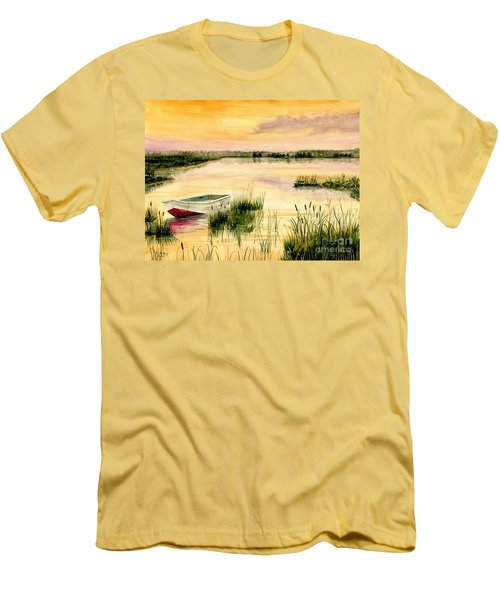 Chesapeake Marsh Men's T-Shirt (Slim Fit) by Melly Terpening
