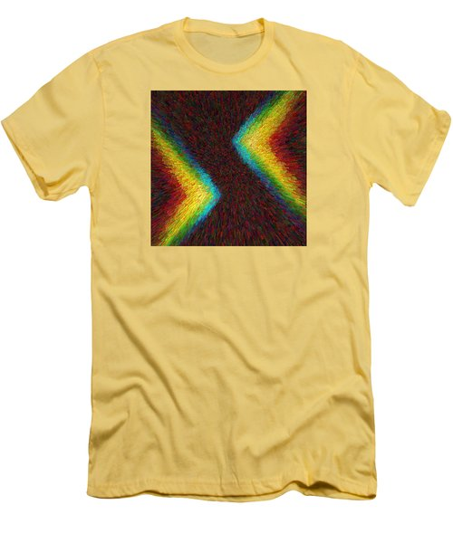 Chevron Double Rainbow C2014 Men's T-Shirt (Slim Fit) by Paul Ashby