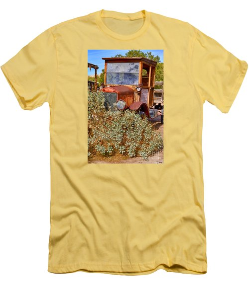 Men's T-Shirt (Slim Fit) featuring the photograph China Ranch Truck by Jerry Fornarotto