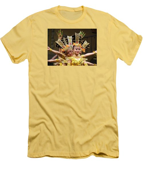 Chinese Dancers Perform Thousand Hands Guan Yin Men's T-Shirt (Athletic Fit)