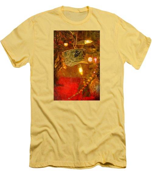 Christmas Cover  Men's T-Shirt (Slim Fit) by Susan  McMenamin