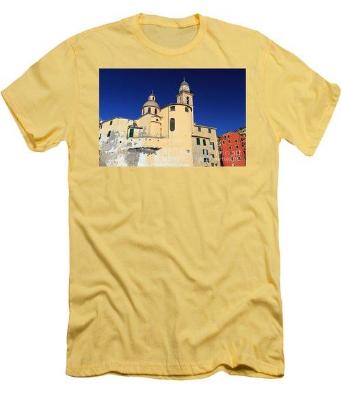 Men's T-Shirt (Slim Fit) featuring the photograph Church In Camogli by Antonio Scarpi