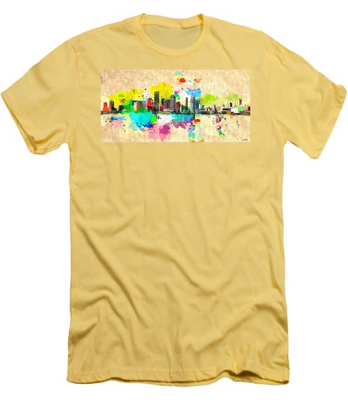 City Of Miami Grunge Men's T-Shirt (Slim Fit) by Daniel Janda