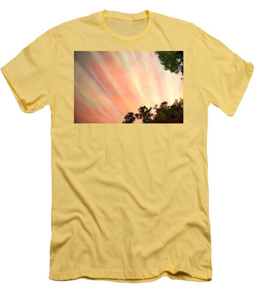 Men's T-Shirt (Slim Fit) featuring the photograph Cloud Streams by Charlotte Schafer